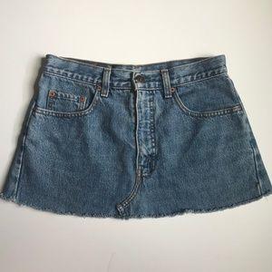 """Vintage Levi's Orange Tab Cut-Off Jean Skirt 31"""""""